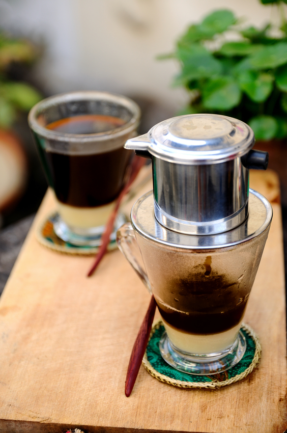 Brewing a cup of Vietnamese Coffee